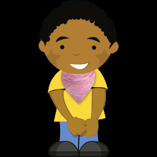 pink tie dye bib on cartoon boy
