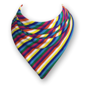 bib with different coloured stripes