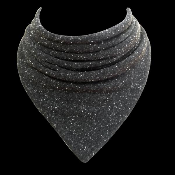 Speckled black dribble bib